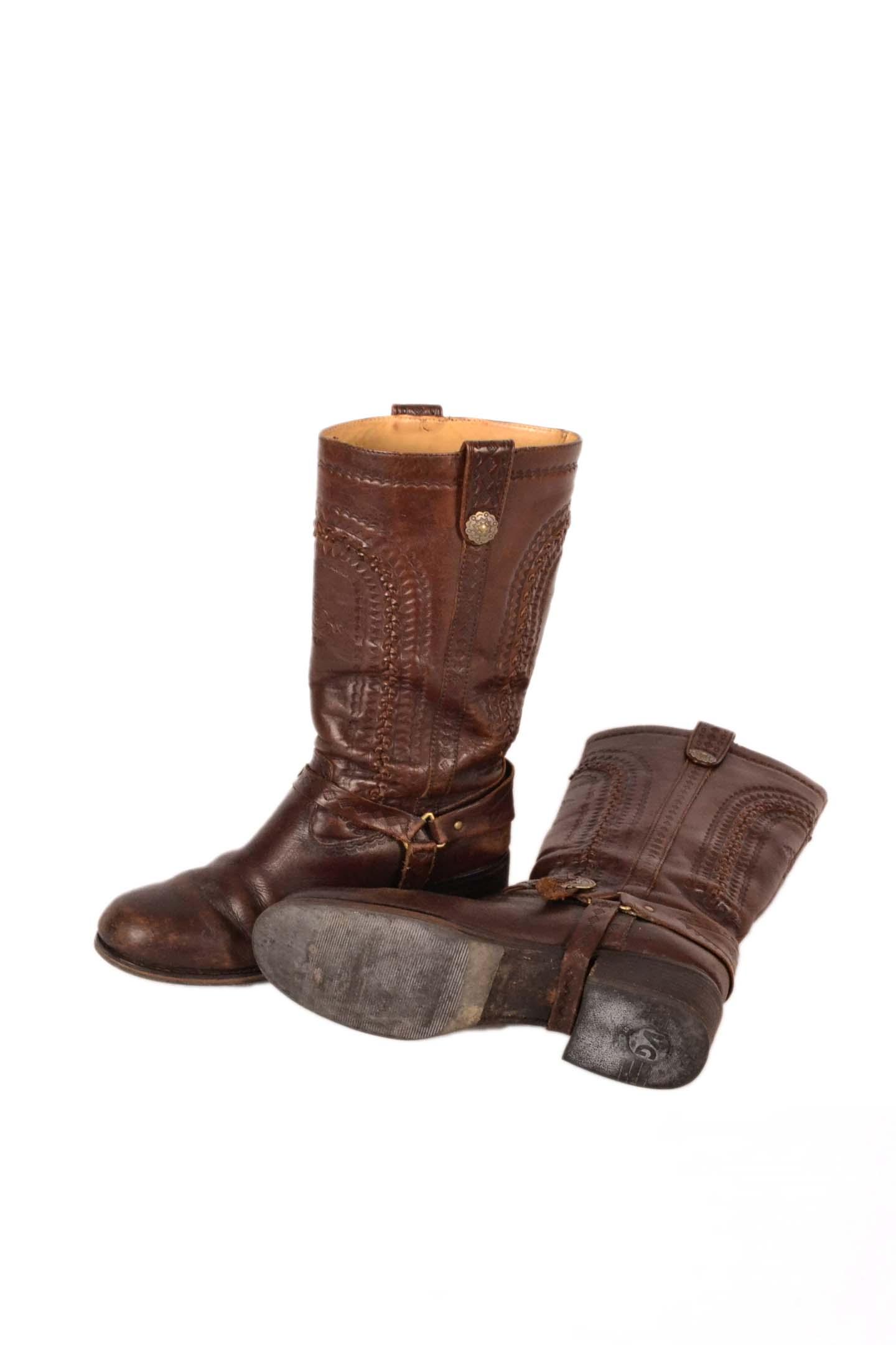 klassieke stijl verkoopt nieuwe release Dames laarzen bruin leer maat 39